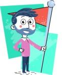 Flat Hand Drawn Man Cartoon Vector Character AKA Jonathan - Shape 7