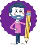 Flat Hand Drawn Man Cartoon Vector Character AKA Jonathan - Shape 11