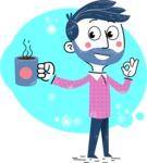 Flat Hand Drawn Man Cartoon Vector Character AKA Jonathan - Shape 12