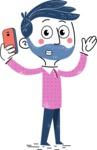 Flat Hand Drawn Man Cartoon Vector Character AKA Jonathan - Duckface