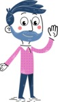 Flat Hand Drawn Man Cartoon Vector Character AKA Jonathan - Oops