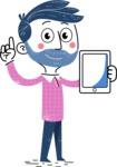 Flat Hand Drawn Man Cartoon Vector Character AKA Jonathan - iPad 1