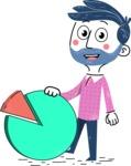 Flat Hand Drawn Man Cartoon Vector Character AKA Jonathan - Chart