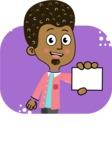 Flat Hand Drawn African American Man Cartoon Vector Character AKA Christopher - Shape 8