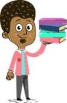 Flat Hand Drawn African American Man Cartoon Vector Character AKA Christopher - Book 2