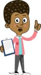 Flat Hand Drawn African American Man Cartoon Vector Character AKA Christopher - Notepad 1