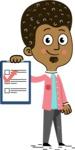 Flat Hand Drawn African American Man Cartoon Vector Character AKA Christopher - Notepad 3