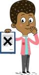 Flat Hand Drawn African American Man Cartoon Vector Character AKA Christopher - Notepad 4