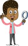 Flat Hand Drawn African American Man Cartoon Vector Character AKA Christopher - Search