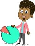 Flat Hand Drawn African American Man Cartoon Vector Character AKA Christopher - Chart