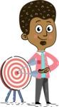 Flat Hand Drawn African American Man Cartoon Vector Character AKA Christopher - Target