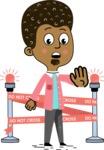 Flat Hand Drawn African American Man Cartoon Vector Character AKA Christopher - Under Construction 2
