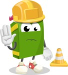 School Book Cartoon Vector Character AKA Jimmy Pagemark - as a Construction worker