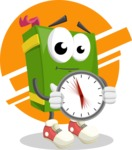 School Book Cartoon Vector Character AKA Jimmy Pagemark - Break Time Illustration