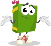 School Book Cartoon Vector Character AKA Jimmy Pagemark - Feeling Sorry