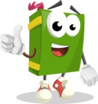 School Book Cartoon Vector Character AKA Jimmy Pagemark - Giving Thumbs Up