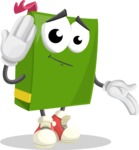 School Book Cartoon Vector Character AKA Jimmy Pagemark - Making Oops gesture