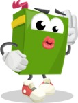 School Book Cartoon Vector Character AKA Jimmy Pagemark - Posing for a Selfie