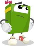 School Book Cartoon Vector Character AKA Jimmy Pagemark - Rolling Eyes