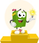 School Book Cartoon Vector Character AKA Jimmy Pagemark - School is Important Illustration Concept