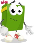 School Book Cartoon Vector Character AKA Jimmy Pagemark - Smiling