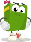 School Book Cartoon Vector Character AKA Jimmy Pagemark - Waiting
