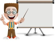 Little School Boy with Glasses Cartoon Vector Character AKA Nicholas - Presentation1