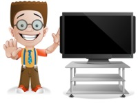 Little School Boy with Glasses Cartoon Vector Character AKA Nicholas - Presentation2