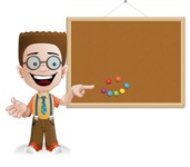 Little School Boy with Glasses Cartoon Vector Character AKA Nicholas - Presentation3