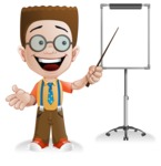 Little School Boy with Glasses Cartoon Vector Character AKA Nicholas - Presentation4