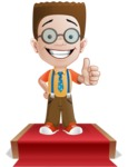 Little School Boy with Glasses Cartoon Vector Character AKA Nicholas - Presentation7