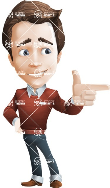 Vector Working Man Cartoon Character in 112 Poses - Point2