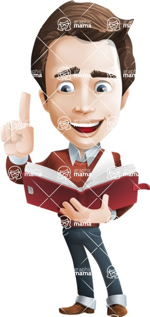 male vector man cartoon character graphic design - Sam The Workaholic - Book2