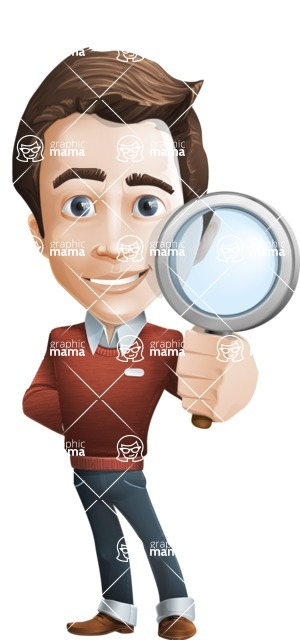 male vector cartoon character graphic design - Sam The Workaholic - Search