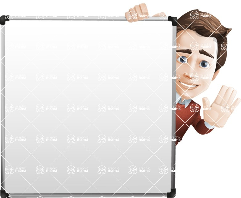 Vector Working Man Cartoon Character in 112 Poses - Presentation7