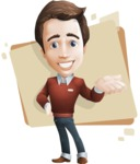 male vector cartoon character graphic design - Sam The Workaholic - Shape5