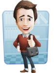 male vector cartoon character graphic design - Sam The Workaholic - Shape6