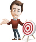male vector cartoon character graphic design - Sam The Workaholic - Target