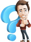 male vector cartoon character graphic design - Sam The Workaholic - Questions