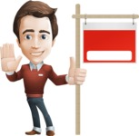male vector cartoon character graphic design - Sam The Workaholic - Presentation2