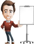 male vector cartoon character graphic design - Sam The Workaholic - Presentation3