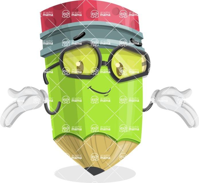 Cute Pencil Cartoon Vector Character AKA Woody the Nerdy Pencil - Feeling Sorry