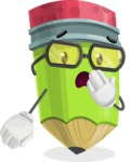 Cute Pencil Cartoon Vector Character AKA Woody the Nerdy Pencil - Being Bored