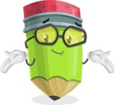 Cute Pencil Cartoon Vector Character AKA Woody the Nerdy Pencil - Feeling Sorry