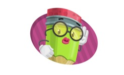 Cute Pencil Cartoon Vector Character AKA Woody the Nerdy Pencil - With Simple Style Background Concept