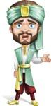 Arabian Man with Beard Cartoon Vector Character AKA Fath Victory - Sad 2