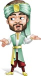 Arabian Man with Beard Cartoon Vector Character AKA Fath Victory - Lost 2