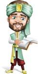 Arabian Man with Beard Cartoon Vector Character AKA Fath Victory - Book 1