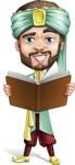 Arabian Man with Beard Cartoon Vector Character AKA Fath Victory - Book 2