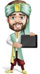 Arabian Man with Beard Cartoon Vector Character AKA Fath Victory - iPad 2